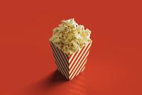 Digital Illustration of Box of Popcorn on Red Background 11030044749| 写真素材・ストックフォト・画像・イラスト素材|アマナイメージズ