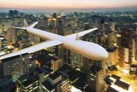Digital Illustration of Drone Surveilling over Sao Paulo, Brazil 11030046495  写真素材・ストックフォト・画像・イラスト素材 アマナイメージズ