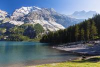Doldenstock Mountain Range at Lake Oeschinensee, Jungfrau-Aletsch, UNESCO World Heritage Site, Canton of Bern, Switzerland
