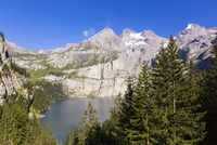 Bluemlisalp Mountain Range at Lake Oeschinensee, Jungfrau-Aletsch, UNESCO World Heritage Site, Canton of Bern, Switzerland