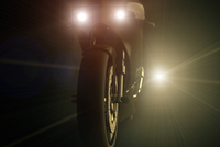 Digital Illustration of Race Motorcycle at Night