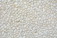 Close-up of Whitewashed, Concrete Wall with pebbles, Norderney, East Frisia Island, North Sea, Lower Saxony, Germany
