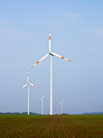 Wind Turbines in Countryside, North Rhine-Westphalia, Germany