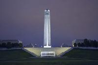 Liberty Memorial illuminated at Night, Kansas City, Missouri, USA