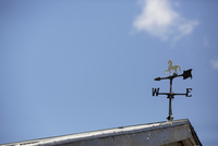 Weather Vane on Roof and Blue Sky, Niagara-on-the-Lake, Ontario, Canada