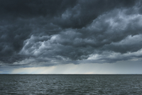 Thunder Storm over Lake, Etang de Vaccares, Camargue, Bouches-du-Rhone, Provence-Alpes-Cote d'Azur, France 11030047759| 写真素材・ストックフォト・画像・イラスト素材|アマナイメージズ
