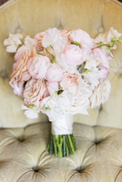 Bridal Bouquet of Pink Peonies and Roses