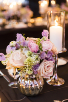 Flower Arrnagement and Candle at Wedding Reception