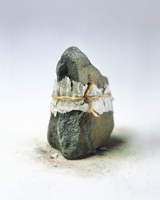 Financial Page Tied to a Rock