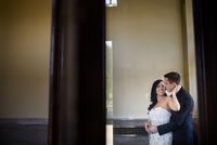 Portrait of Bride and Groom Indoors
