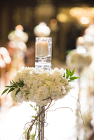 Candle and Flower Decoration at Wedding