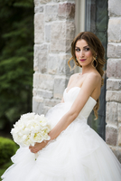 Portrait of Bride Outdoors, Toronto, Ontario, Canada