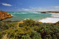 Ocean Coastline in Summer, Port Campbell, Great Ocean Road, Victoria, Australia