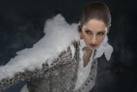 Portrait of Woman Dressed as Angel, Studio Shot