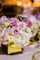 Close-up of Bouquet Centerpieces at Wedding