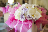 Bouquets with Roses and Orchids for Wedding