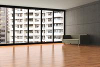 Digital Illustration of Empty Apartment with Crowded View 11030049147| 写真素材・ストックフォト・画像・イラスト素材|アマナイメージズ