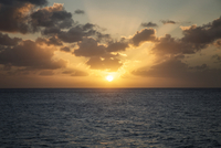 Sunset over Simpson Bay, Sint Maarten, Dutch West Indies, Caribbean
