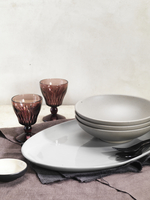 Bowls, Plate, Glasses and Napkins, Studio Shot
