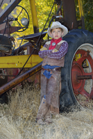 Portrait of Young Cowboy, Shell, Wyoming, USA