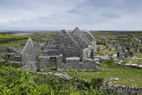 Stone ruins, Aran Islands, Republic of Ireland