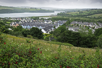 Overview of fishing town of Kinsale, Republic of Ireland