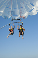 Couple Paragliding, Reef Playacar Resort and Spa, Playa del Carmen, Mexico