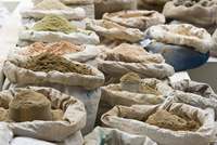Bags of Spices at Market, Bhutan