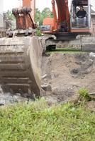 Close-up of Excavator