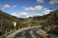 Road through Cradle Mountain-Lake St Clair National Park, UNESCO World Heritage Area, Tasmania, Australia