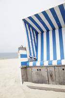 Chair on Beach, Westerland, Sylt, North Sea, Schleswig-Holstein, Germany