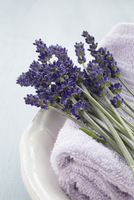 Close-up of Lavender and Towel