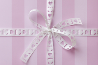 Gift with Heart Ribbon