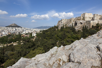View of Mount Lycabettus and Acropolis, Athens, Greece