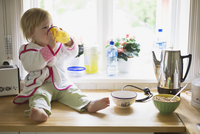 Girl on Kitchen Counter