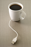 USB Plugged into Coffee Cup