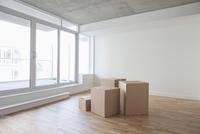 Empty Room and Boxes, Toronto, Ontario, Canada