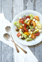 Heirloom Tomato Salad 11030051019| 写真素材・ストックフォト・画像・イラスト素材|アマナイメージズ