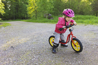 Young Girl on Bicycle, Sweden
