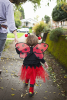 Girl Dressed-Up as Ladybug, Portland, Multnomah County, Oregon, USA