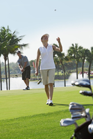 Couple Golfing, Palm Beach Gardens, Florida, USA