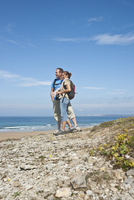 Couple on Beach, Camaret-sur-Mer, Finistere, Bretagne, France