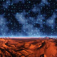 砂漠と星座