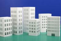 ペーパークラフトのビル 11031059227| 写真素材・ストックフォト・画像・イラスト素材|アマナイメージズ