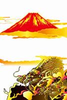 龍と富士山