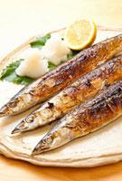 焼き魚サンマ 11031065133| 写真素材・ストックフォト・画像・イラスト素材|アマナイメージズ