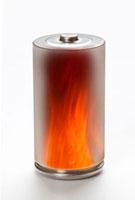 エコ電池と炎の環境イメージ