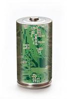 エコ電池とPC基盤の環境イメージ