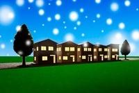 住宅シルエット 11031071855| 写真素材・ストックフォト・画像・イラスト素材|アマナイメージズ