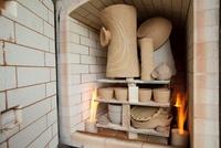 ガス窯と陶芸作品